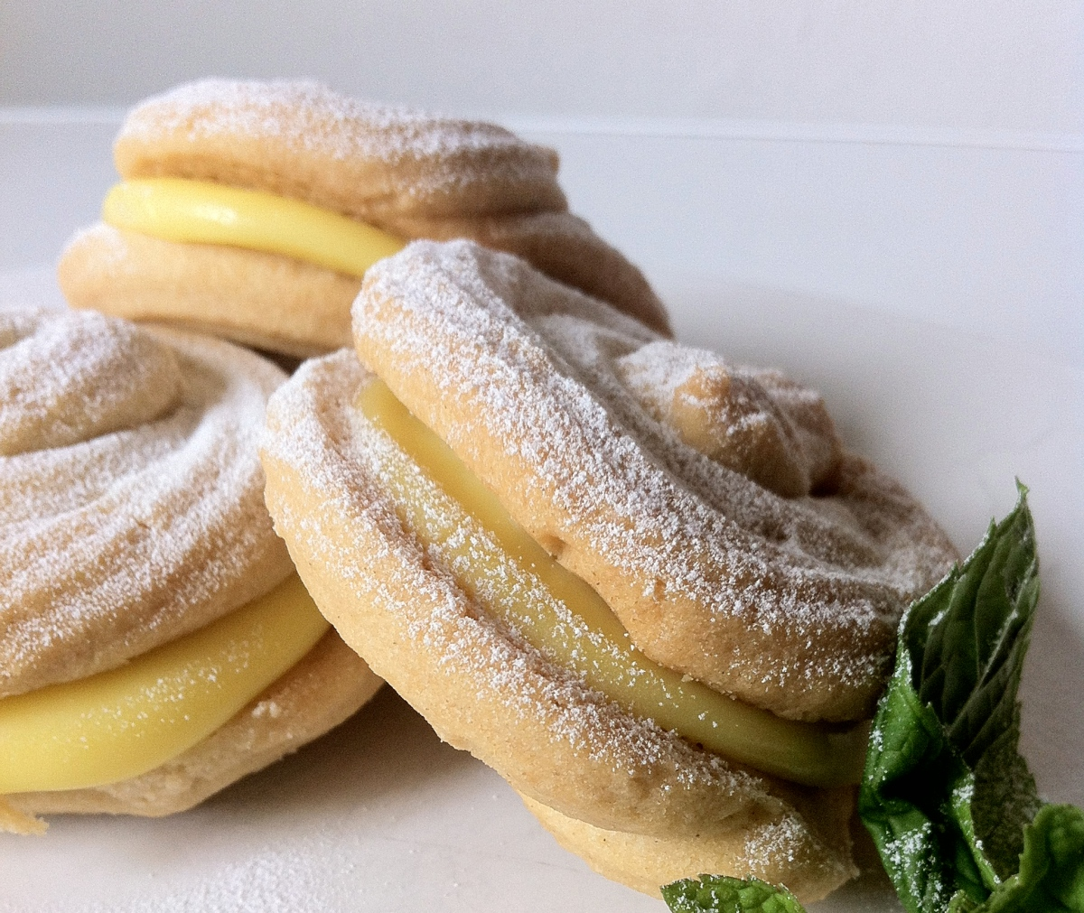 White Chocolate & Lemon Viennese Whirls