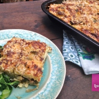 Caramelised Onion & Greens Gratin