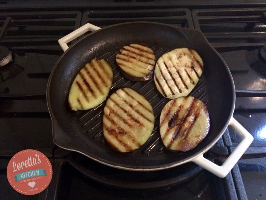 Grill the Aubergine slices in a little oil