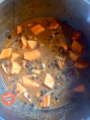 Add the lentils, coconut milk and stock